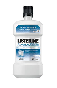 Listerine Ağız Suyu Advanced White Hafif Tat 500 ml