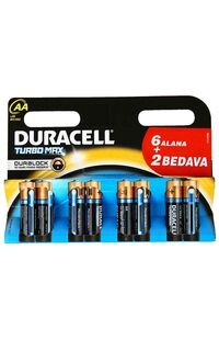 Duracell Pil Aa Turbomax (6+2)
