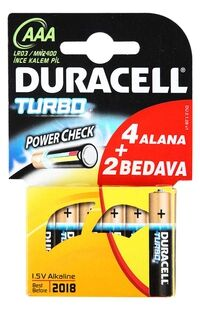Duracell Turbo Aaa 4+2 Pil