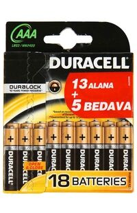 Duracell Pil Aaa (13+5)