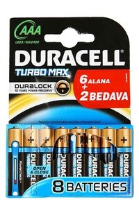 Duracell Pil Aaa Turbomax (6+2)