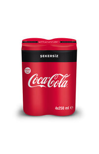 Coca Cola Zero Kutu 4X250Ml
