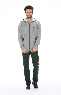 Jack&Jones 12080325 Light Grey Melange Erkek Sweat