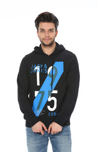 Jack&Jones 12093095 Black Erkek Sweat