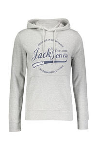 Jack Jones Erkek Sweatshirt 12155959 Light Grey Melange