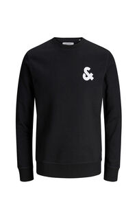 Jack Jones Erkek Sweatshirt 12155398 Black