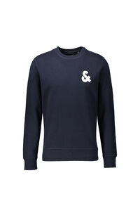Jack Jones Erkek Sweatshirt 12155398 NAVY BLAZER