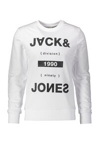 Jack Jones Erkek Sweatshirt 12161759 WHITE