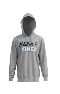 Jack Jones Erkek Sweatshirt 12162924 Light Grey Melange