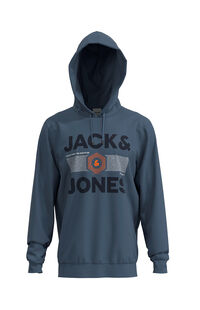Jack Jones Erkek Sweatshirt 12162924 China Blue