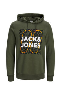 Jack Jones Erkek Sweatshirt 12160898 Forest Night
