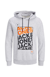 Jack Jones Erkek Sweatshirt 12160898 Light Grey Melange