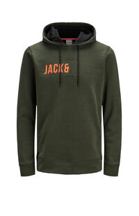 Jack Jones Erkek Sweatshirt 12157721 Forest Night