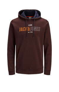 Jack Jones Erkek Sweatshirt 12157721 Fudge