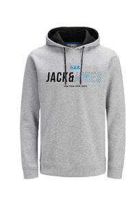 Jack Jones Erkek Sweatshirt 12157721 Light Grey Melange