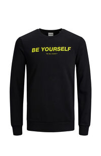 Jack Jones Erkek Sweatshirt 12167779 Black