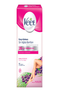 Veet Sir Ağda Bandı Normal Ciltler 12'li
