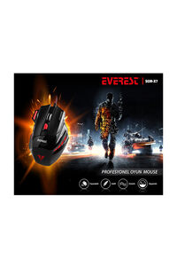 Everest SGM-X7 Usb Siyah Gaming Mouse Pad ve Oyuncu Mouse