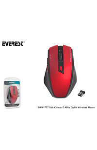 Everest SMW-777 Usb Kırmızı 2.4Ghz Optik Wireless Mouse