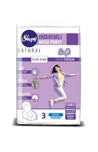 Sleepy Natural Ped Mega Gece 40 Adet