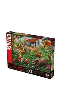 KS Games Dogs and Cats at Play 500 Parça Puzzle