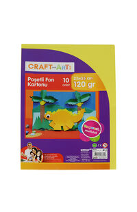Craft and Arts Poşetli Fon Kartonu 10 Renk 25x35