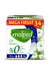 Molped Pure Soft Mega Fırsat 34 Ped