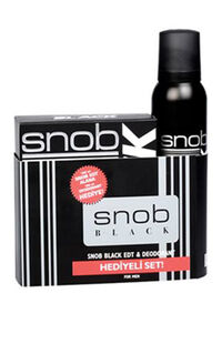 Snob Black Edt 100Ml + Deodorant 150Ml Set