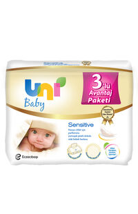 Uni Wipes Baby Islak Havlu 56x3 Lü Sensitive
