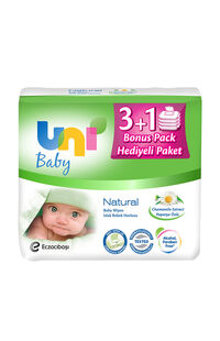 Uni Wipes Baby Islak Havlu 56x4 Lü Naturel