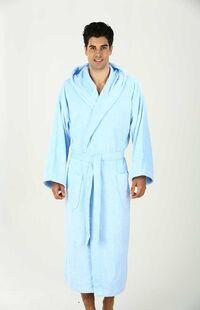 Özdilek İmperial Kapüşonlu Bornoz Mavi XL Beden