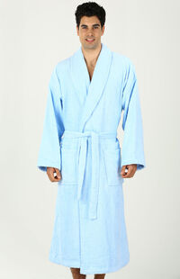 Özdilek İmperial Şal Yaka Bornoz Mavi XL Beden