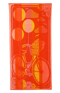 Özdilek Summer Heat Pink Bicycle Plaj Havlusu 70x140
