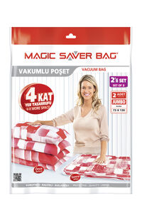 Magic Saver Jumbo Vakumlu Saklama Poşeti 73X130