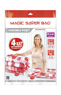 Magic Saver Vakumlu Poşet 3'lü X+2(2XL)