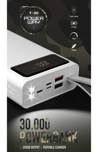 Powerway 30.000 Mah Powerbank Led Ekranlı