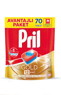 Pril Gold Bulaşık Makinesi Tableti 70'Li