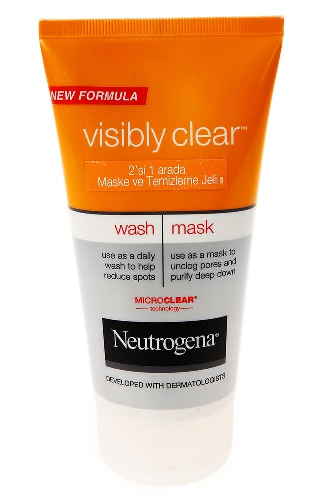 Neutrogena Visibly Clear 2 In 1 Maske Ve Temizleme Jeli 150Ml
