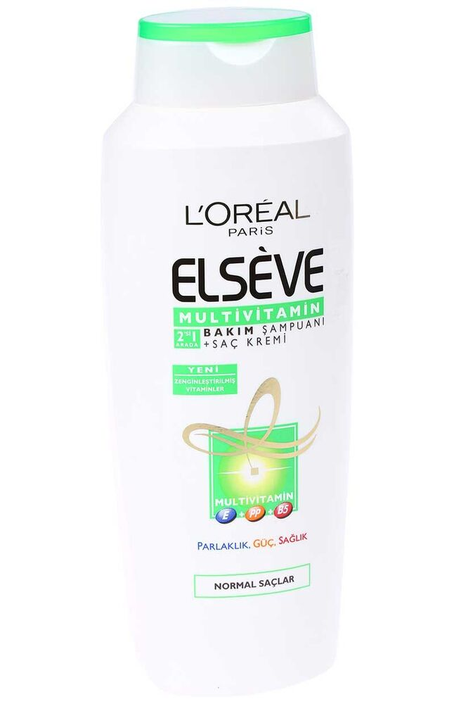 Elseve Şampuan 600Ml Multivitamin 2Si 1 Arada
