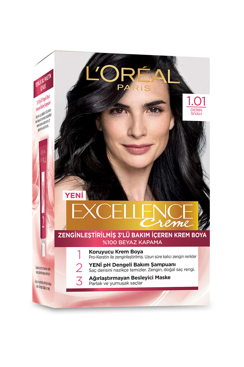 Excellence Saç Boyası 1.01 Deep Pure Black