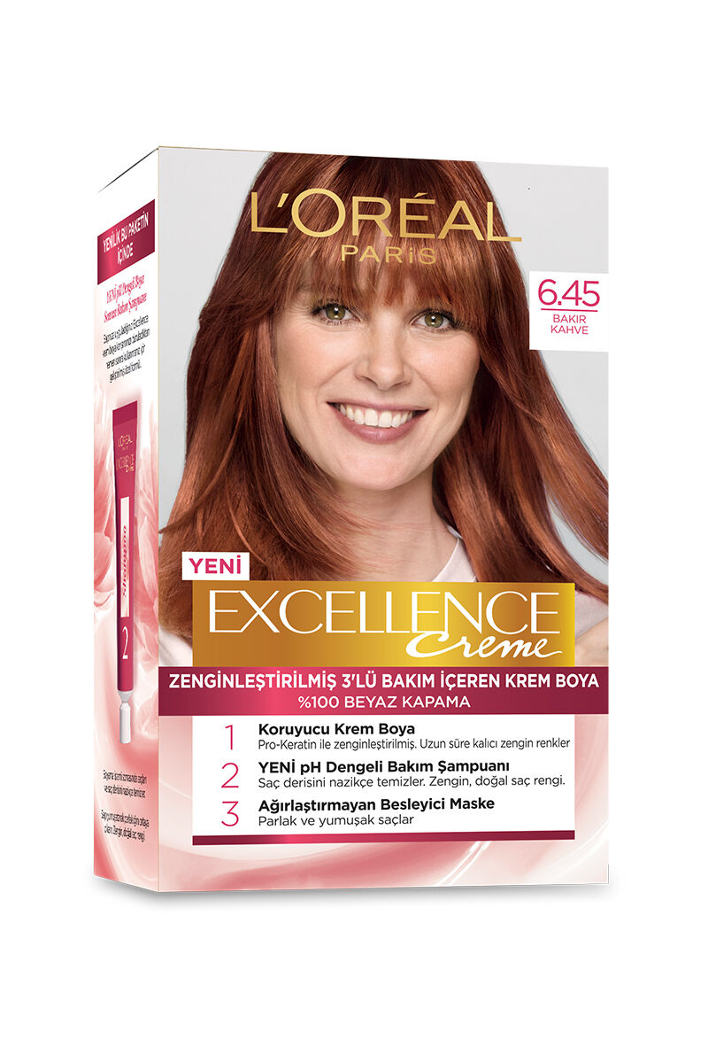 Image for Excellence Saç Boyası 6.45 Light Auburn from Kocaeli