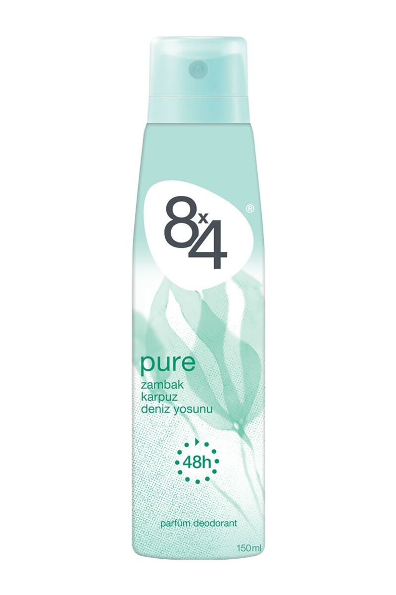 8X4 Deodorant Pure 150Ml Bayan