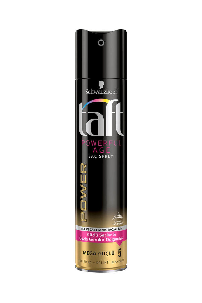 Taft Saç Spreyi 250 Ml No 5 Powerful Age Keratin