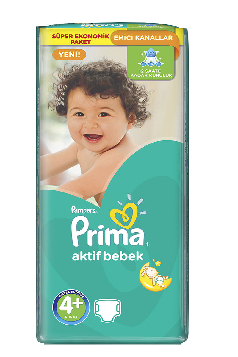 Image for Prima Bebek Bezi Süper Ekonomi Maxi Plus(4+) 9-16 Kg 52 Ped from Bursa