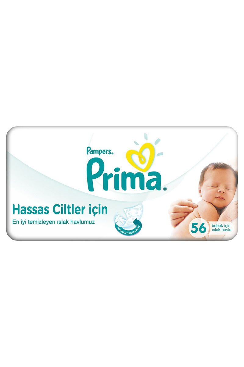 Image for Prima Islak Havlu Pampers Sensitive 56'Lı from Antalya