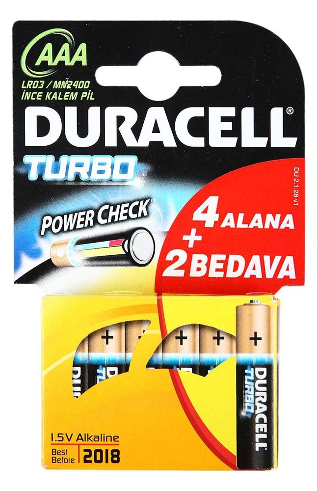 Image for Duracell Turbo Aaa 4+2 Pil from İzmir