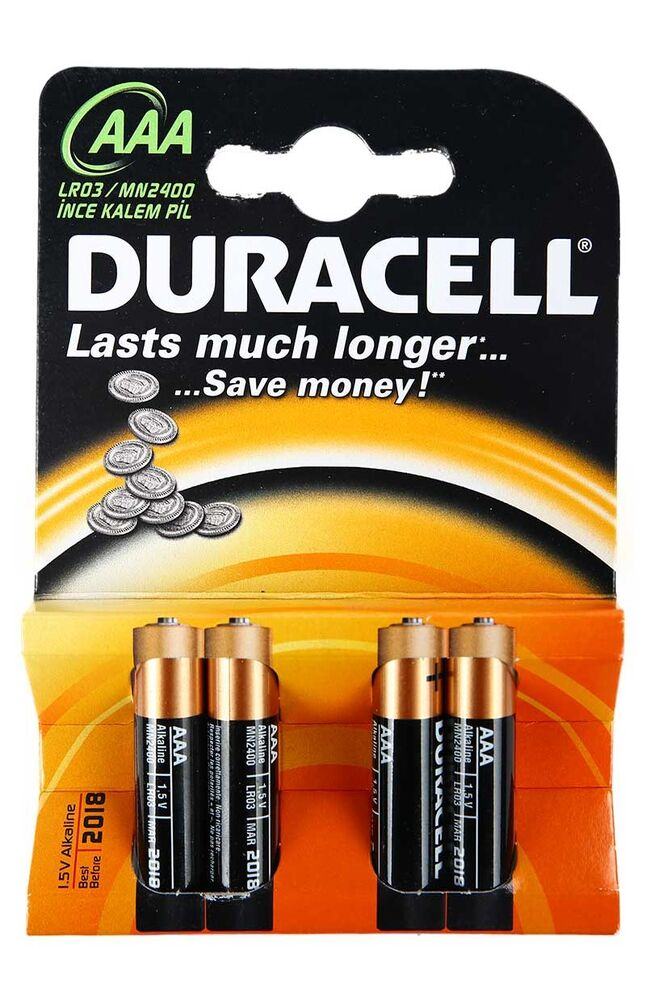 Image for Duracell Aaa 4'Lü Pil from Bursa
