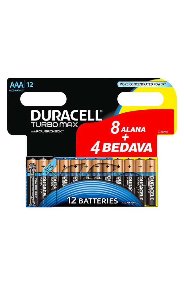 Duracell Turbomax Pil Aa 8+4
