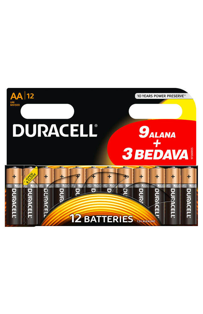 Image for Duracell Basıc Pil Aa 8+4 from Antalya