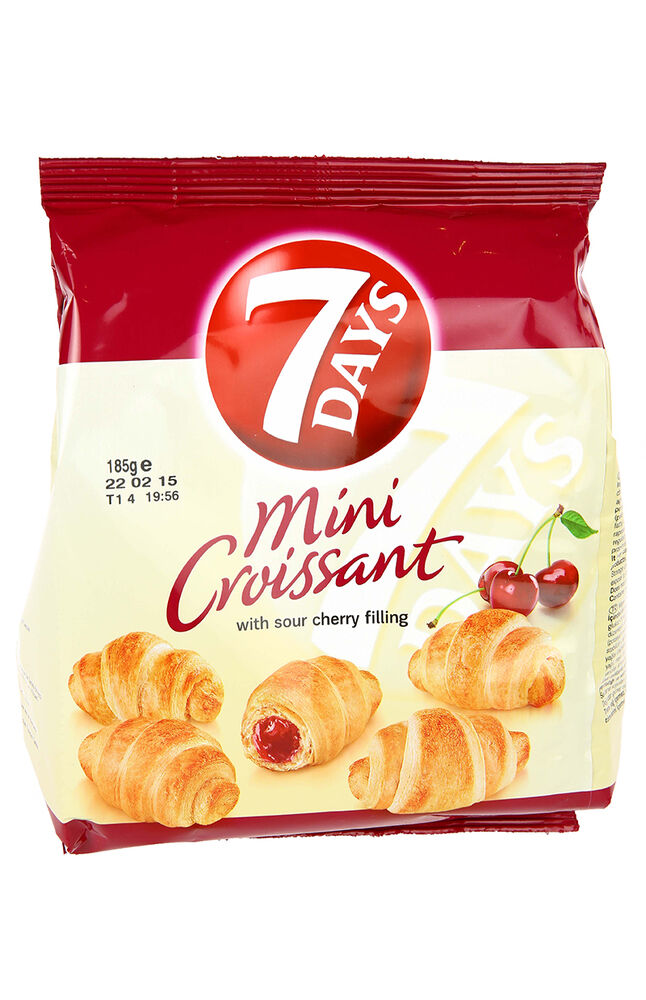 7 Days Mini Kruvasan Vişneli 185Gr.